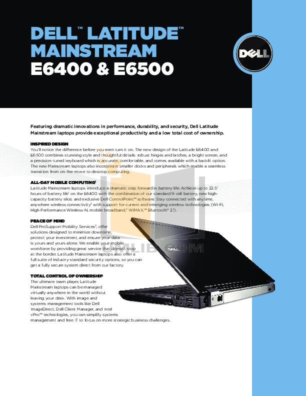 download free pdf for dell latitude e6500 laptop manual rh umlib com Dell Latitude E6520 Dell Latitude E6520