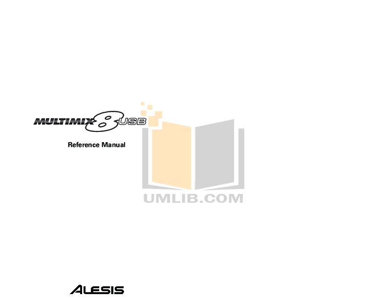 pdf for Alesis Amp Sumo 15 manual