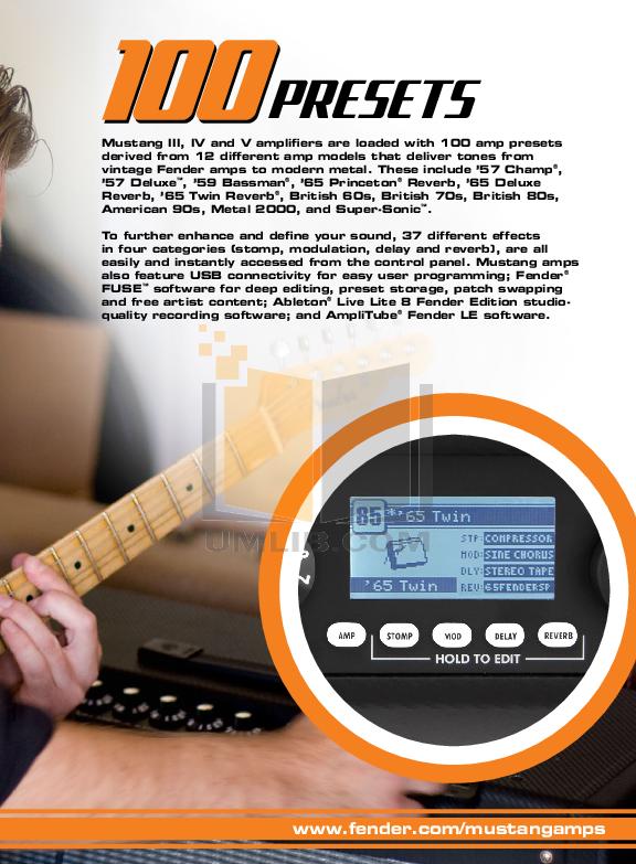 PDF manual for Fender Amp Mustang III