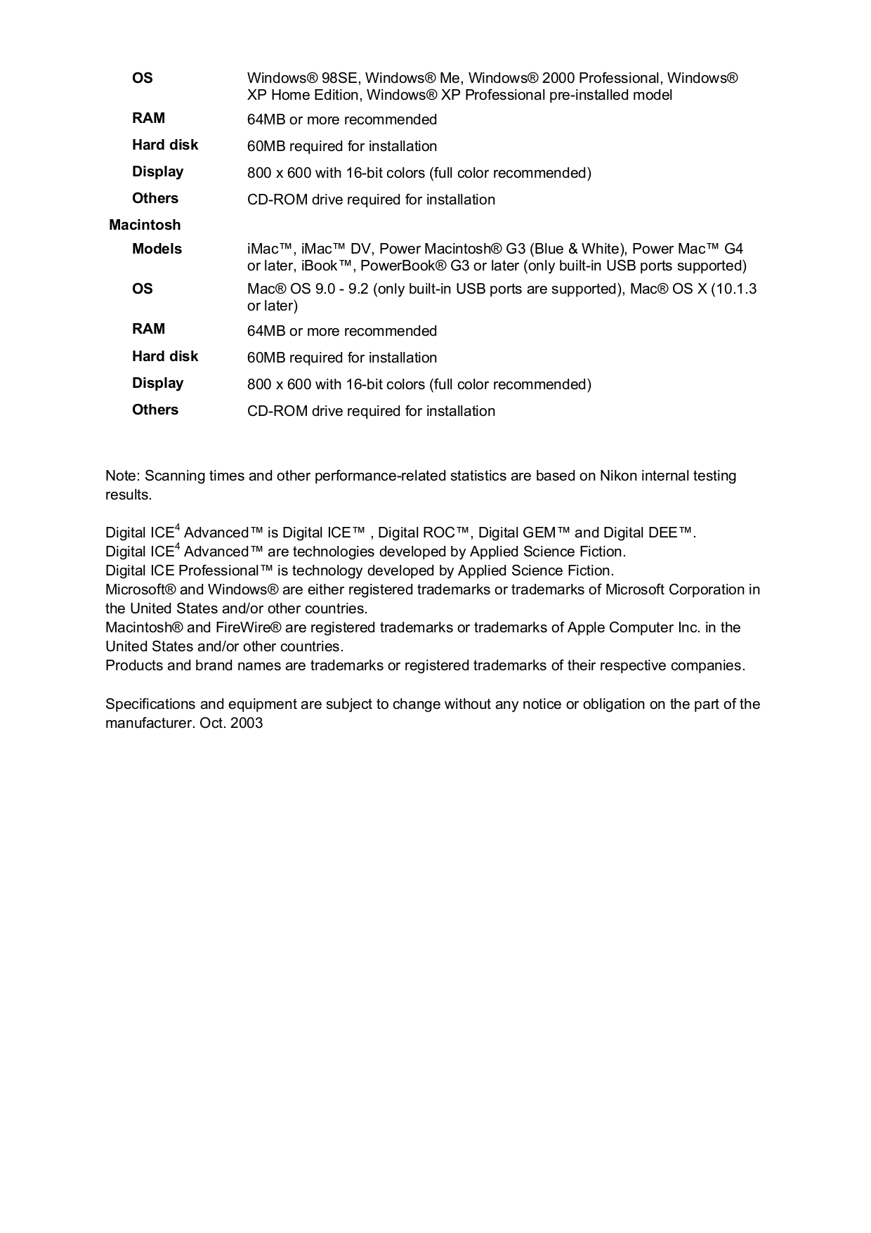PDF manual for Nikon Scanner Coolscan 9000 ED