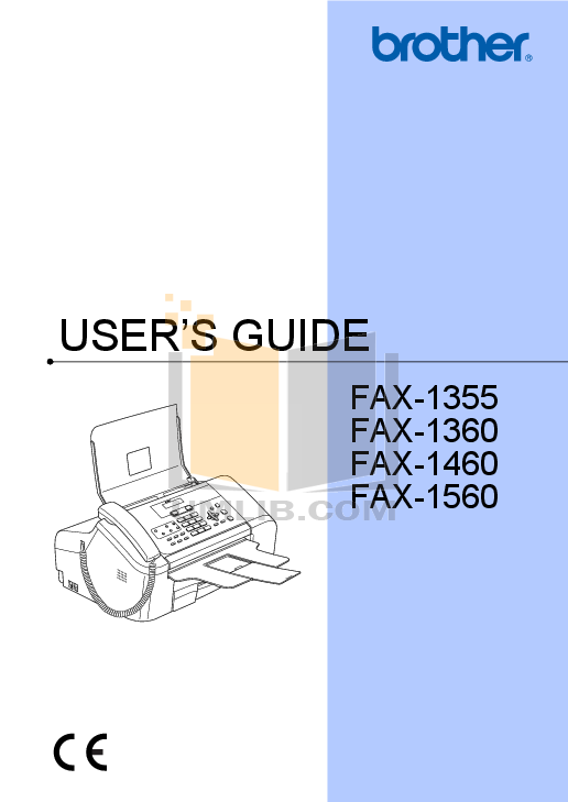 pdf for Brother Fax Machine FAX-1360 manual