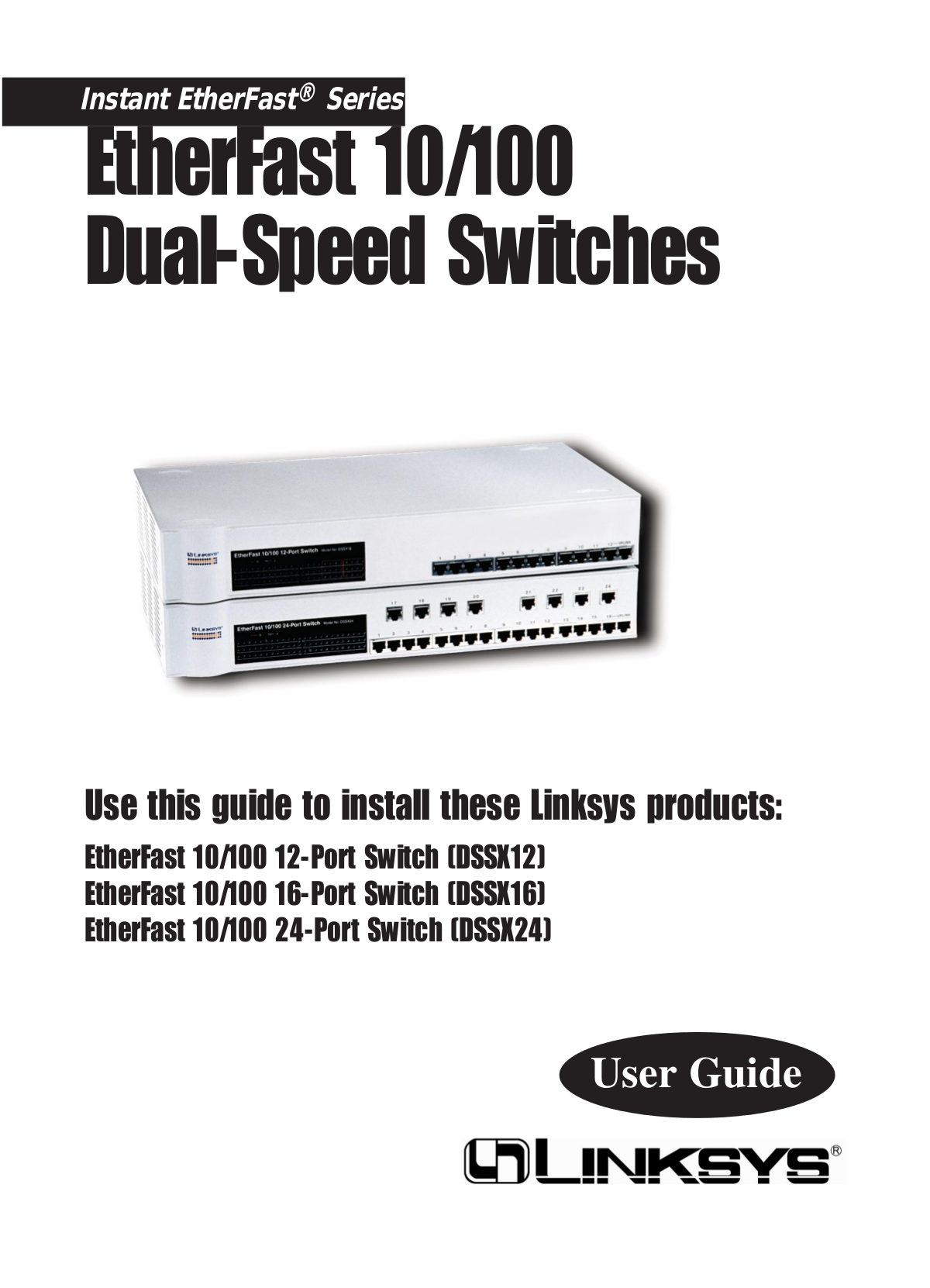 pdf for Linksys Switch DSSX16 manual
