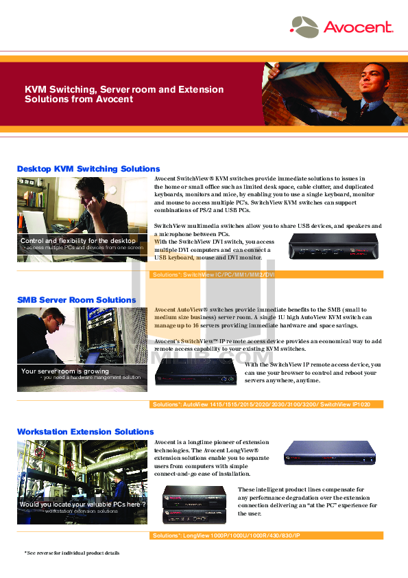 pdf for Avocent Switch SwitchView SwitchView IP manual