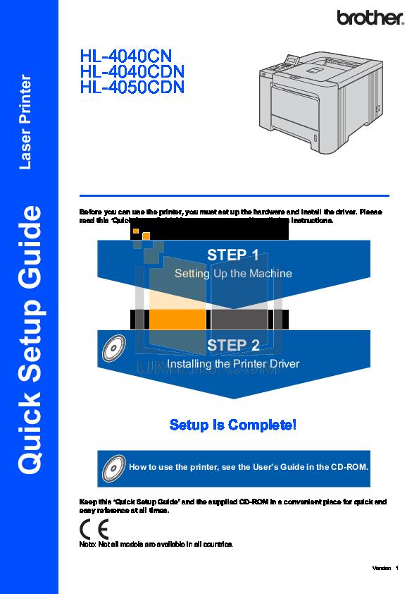 pdf for Brother Printer HL-4040CDN manual