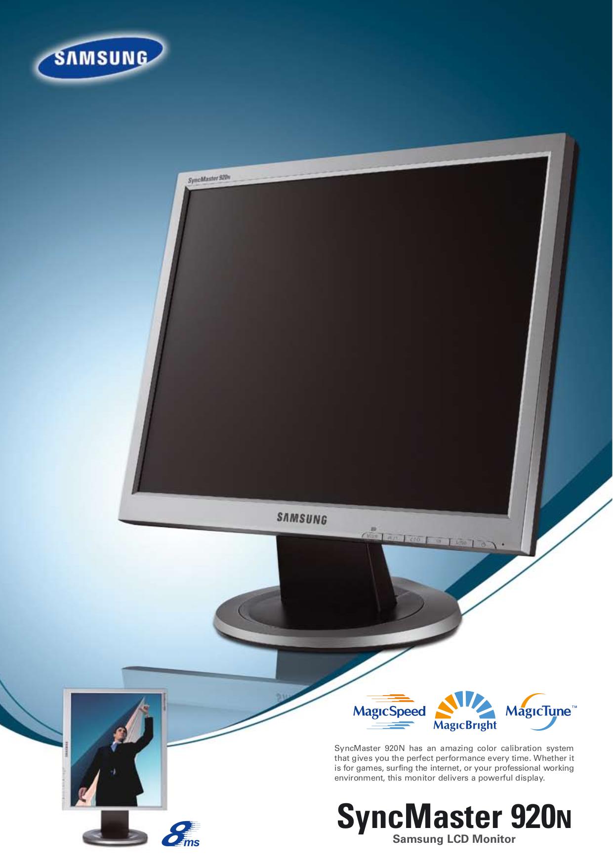 download free pdf for samsung syncmaster 920n monitor manual rh umlib com Samsung SyncMaster 920Nw Driver Samsung SyncMaster 920Nw Driver