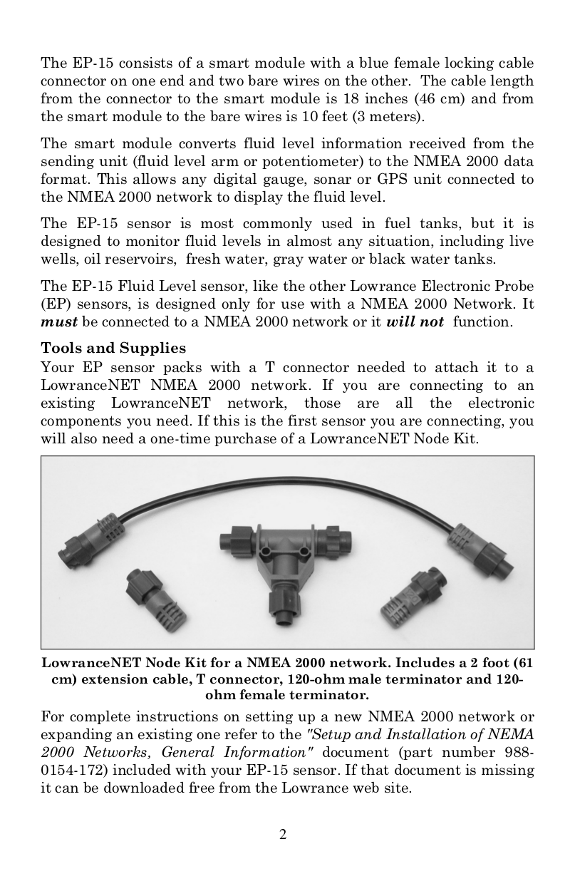 PDF manual for Lowrance Other EP-15 NMEA