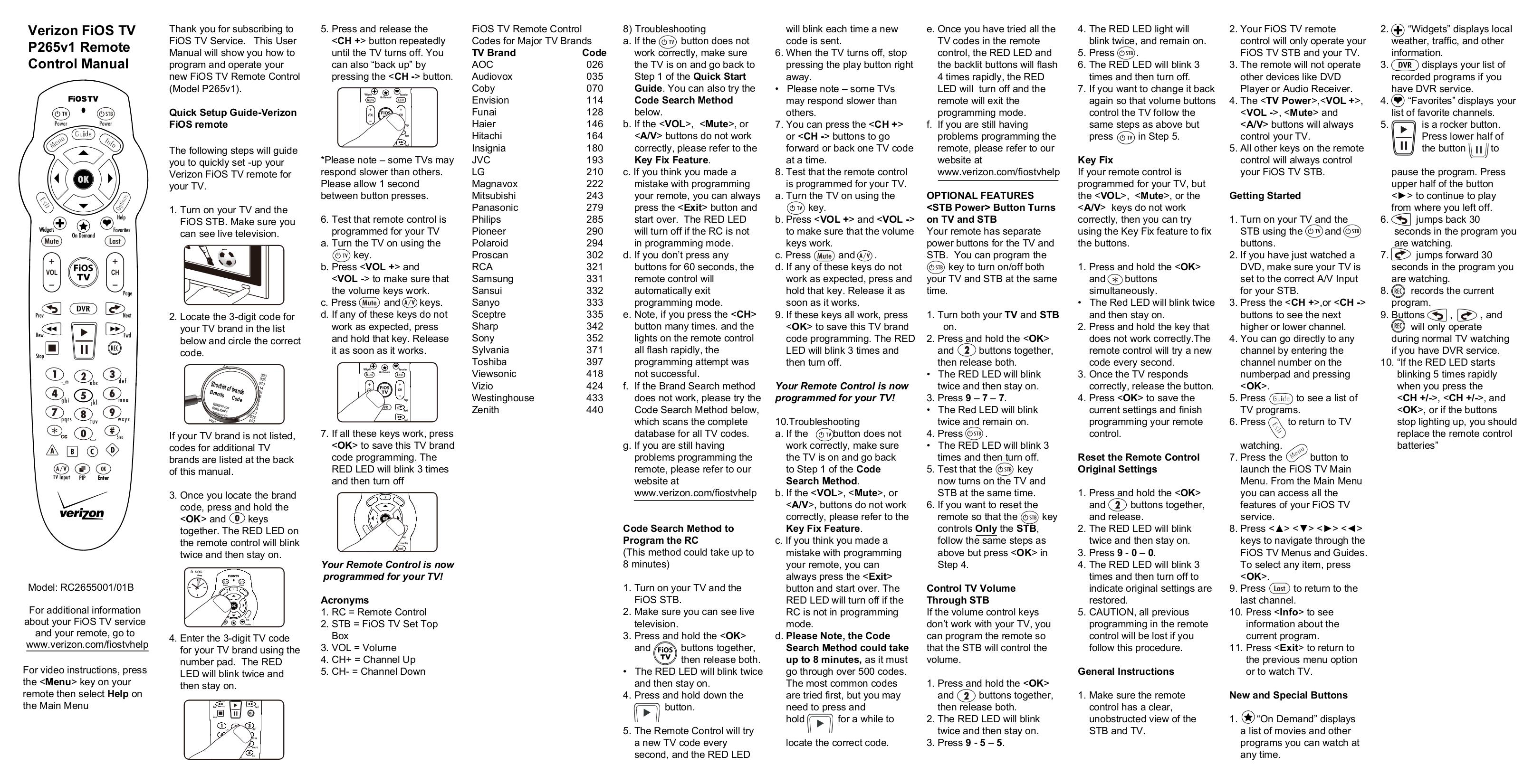 Download free pdf for Zenith DVT216 TV manual
