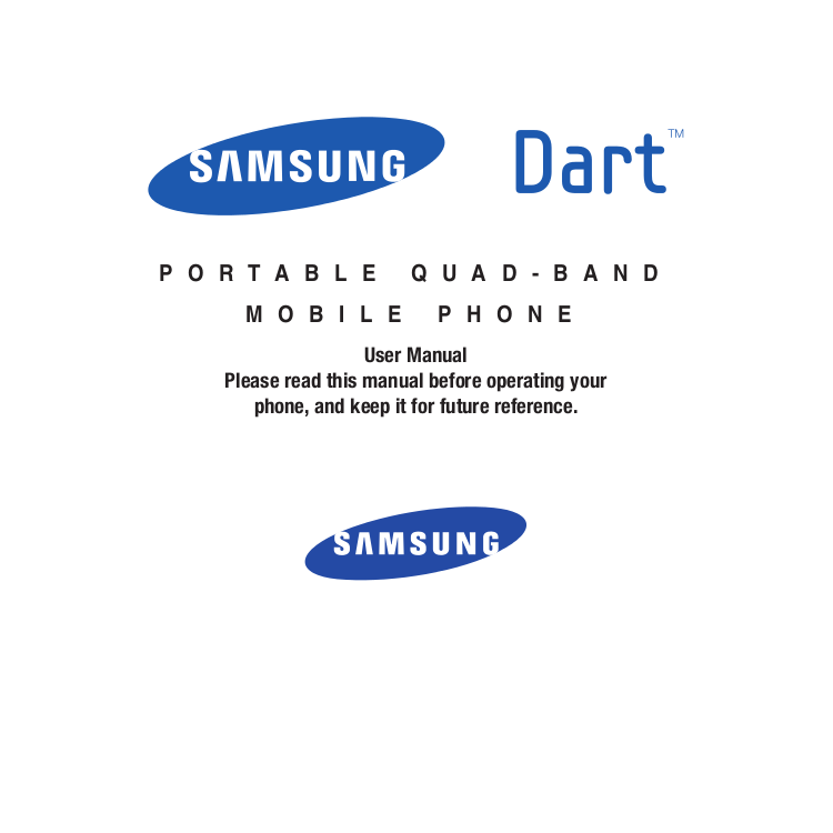 pdf for Samsung Cell Phone Dart manual