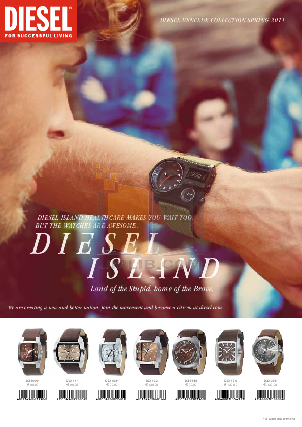 pdf for Diesel Watch DZ4190 manual