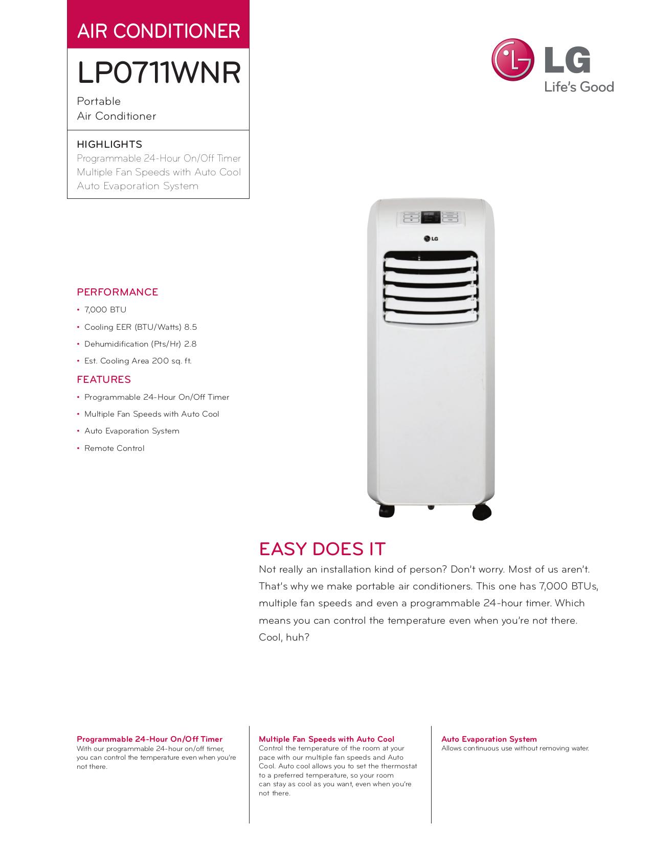 download free pdf for lg lp1311bxr air conditioner manual rh umlib com LG Manuals PDF lg lp1311bxr service manual