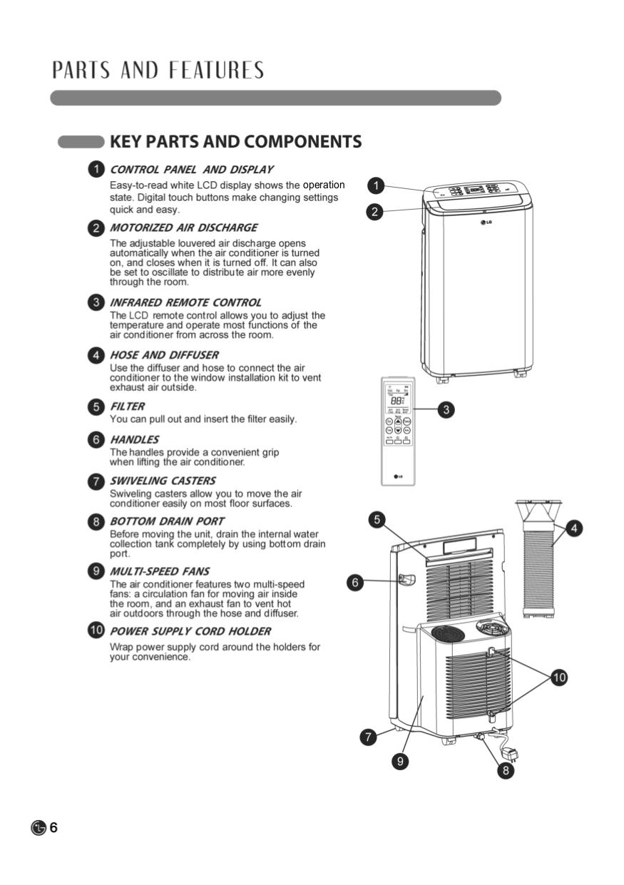 pdf manual for lg air conditioner lp1311bxr rh umlib com LG Phone Manuals User Guides LG Cell Phone Manuals