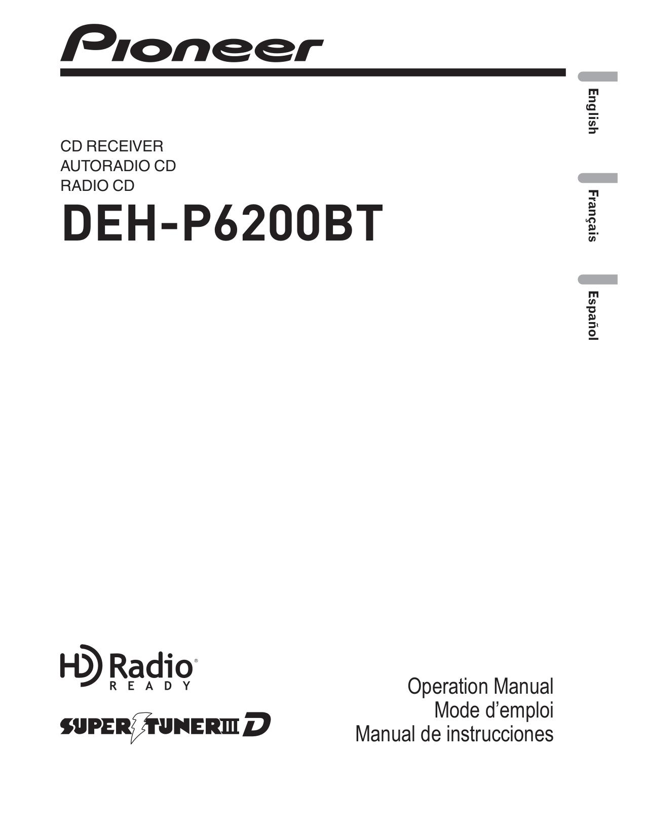 download free pdf for pioneer deh p6200 car receiver manual rh umlib com Owner's Manual User Manual PDF