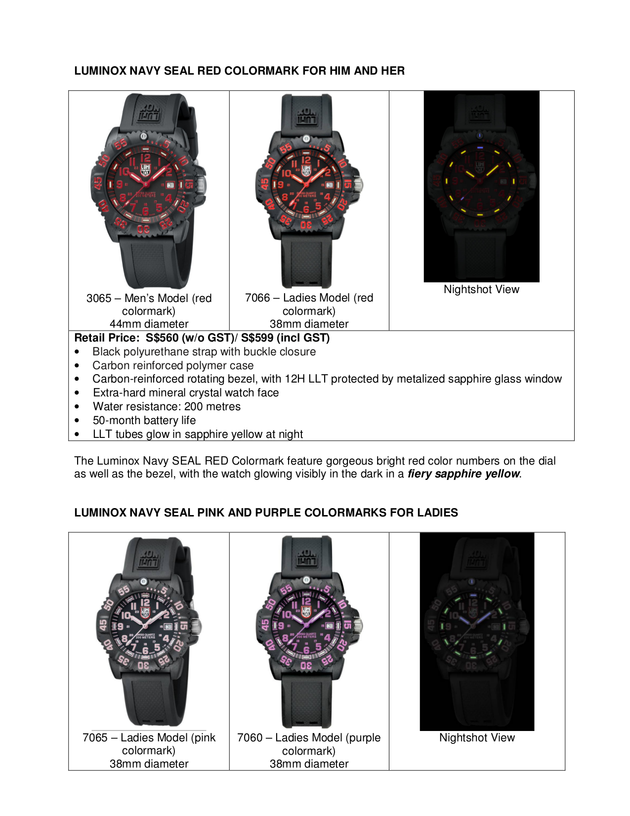 Luminox Watch Navy SEAL 3917 pdf page preview