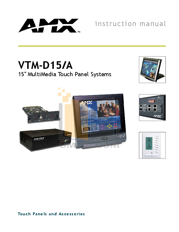pdf for Amx Monitor VTM-D15 manual