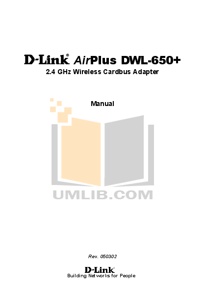 pdf for D-link Other DWL-120 manual