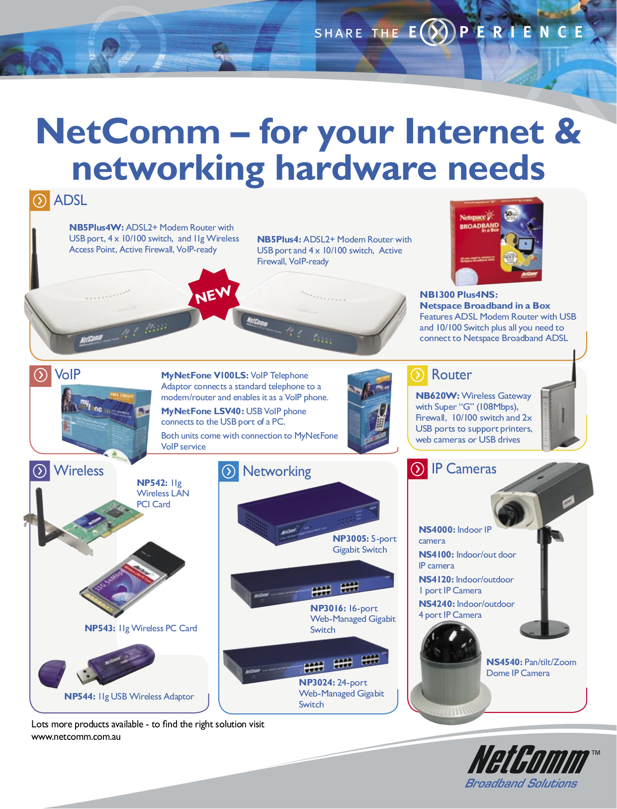 pdf for Netcomm Telephone LSV40 manual