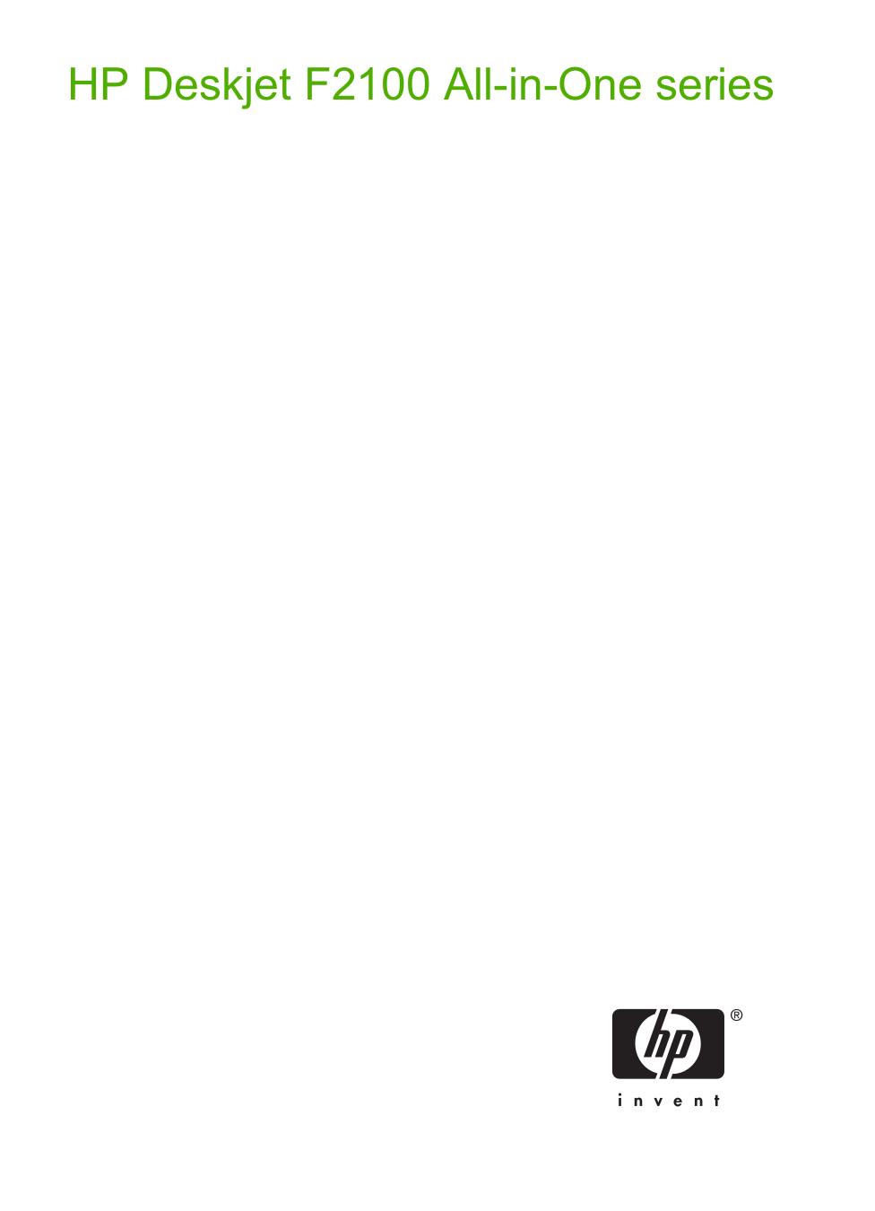 pdf for HP Multifunction Printer Deskjet F2120 manual