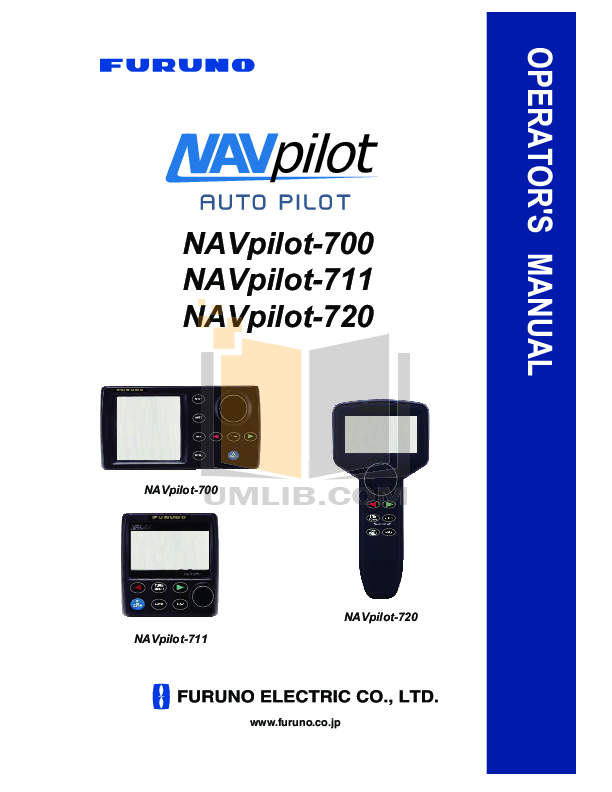 pdf for Furuno GPS Navpilot 500 manual
