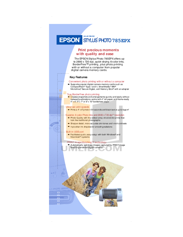 pdf for Epson Printer Stylus Photo 720 manual