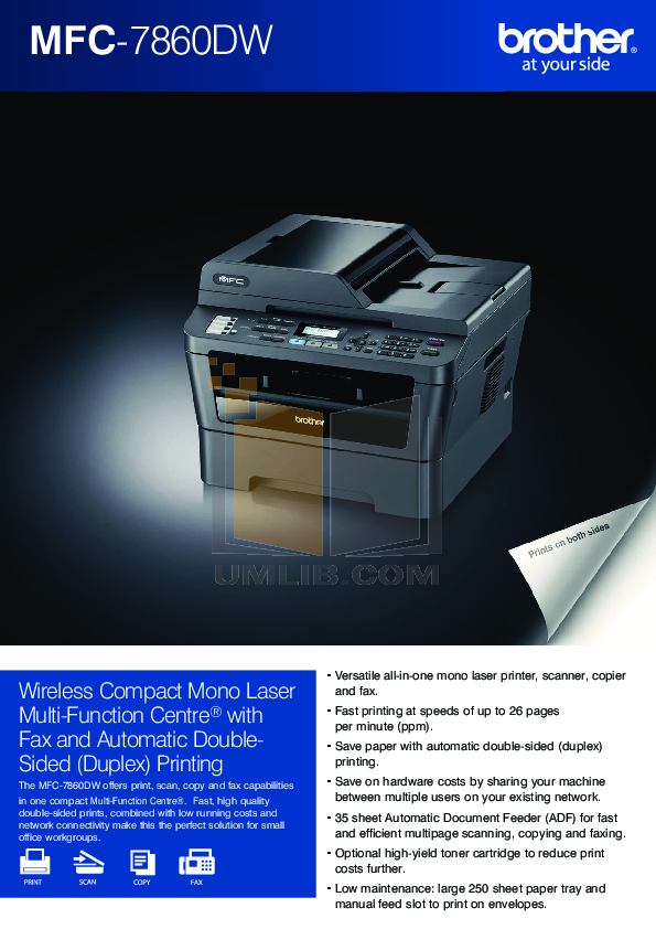 download free pdf for brother mfc 7860dw multifunction printer manual rh umlib com brother mfc-7860dw manual download brother mfc 7860dw manual wireless setup