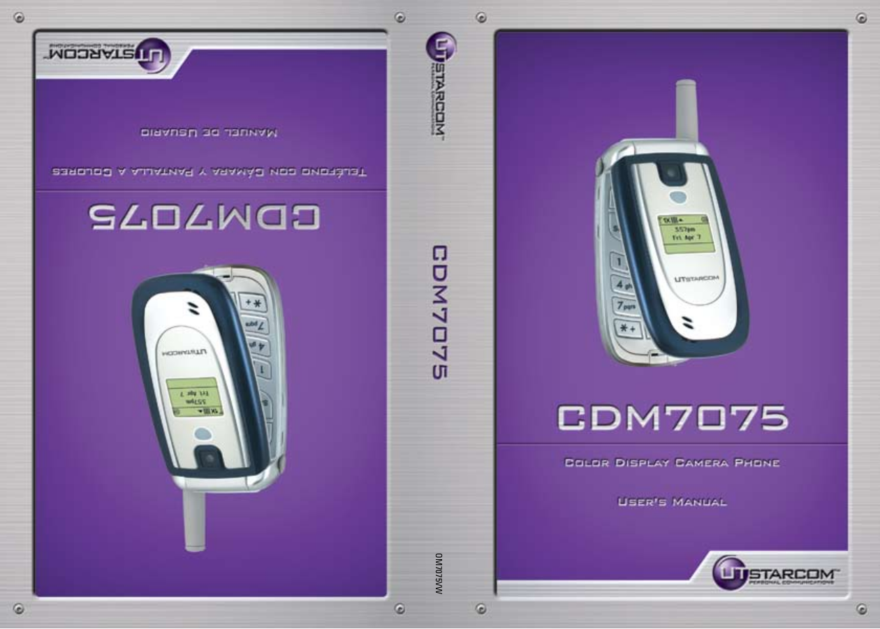 Utstar Cell Phone CDM7075 pdf page preview