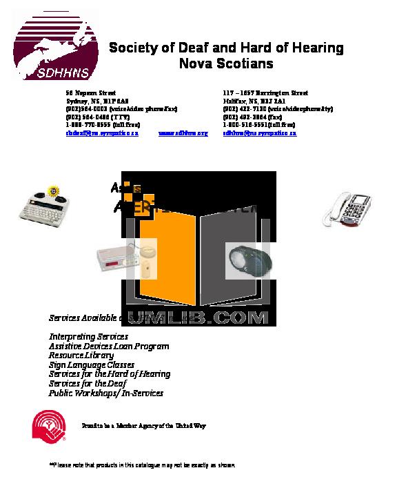 pdf for Ameriphone Telephone XL50 manual