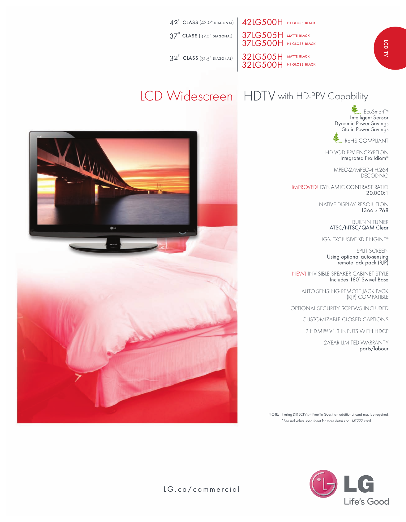 pdf for LG TV 42LG500H manual