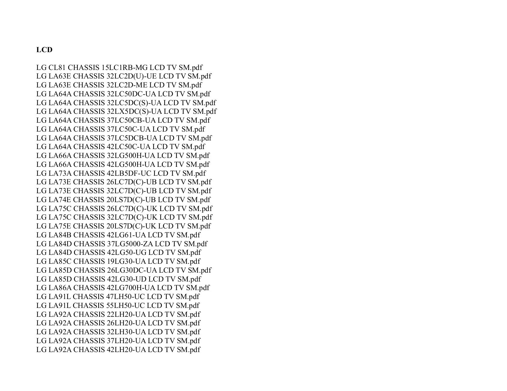 LG TV 42LG500H pdf page preview