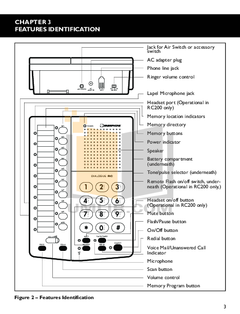 Ameriphone Telephone RC100 pdf page preview