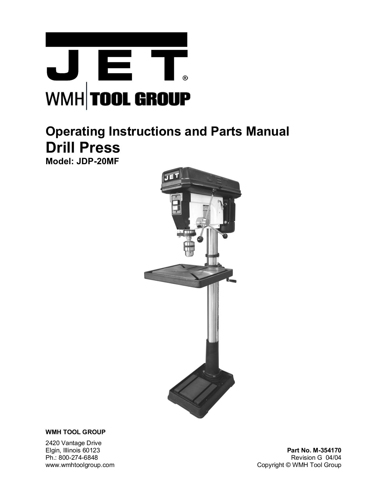 download free pdf for jet jdp 20mf drill press other manual rh umlib com Jet JDP-17MF Parts jet jdp-17mf manual
