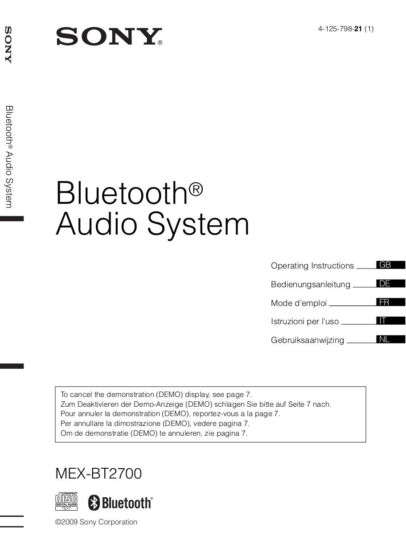 4125798211.pdf 0 download free pdf for sony xplod mex bt2700 car receiver manual sony mex-bt2700 manual pdf at n-0.co