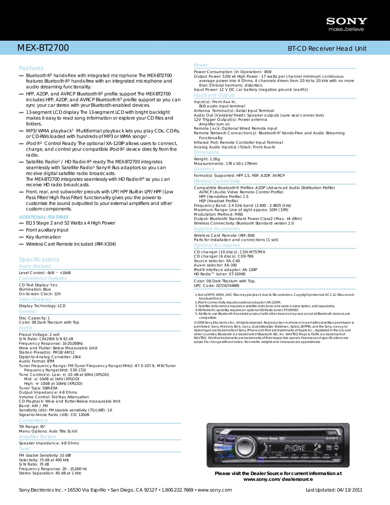 Wiring Diagram For Sony Xplod Mex Bt2500 : Sony mex bt wiring diagram laptop repair diagrams