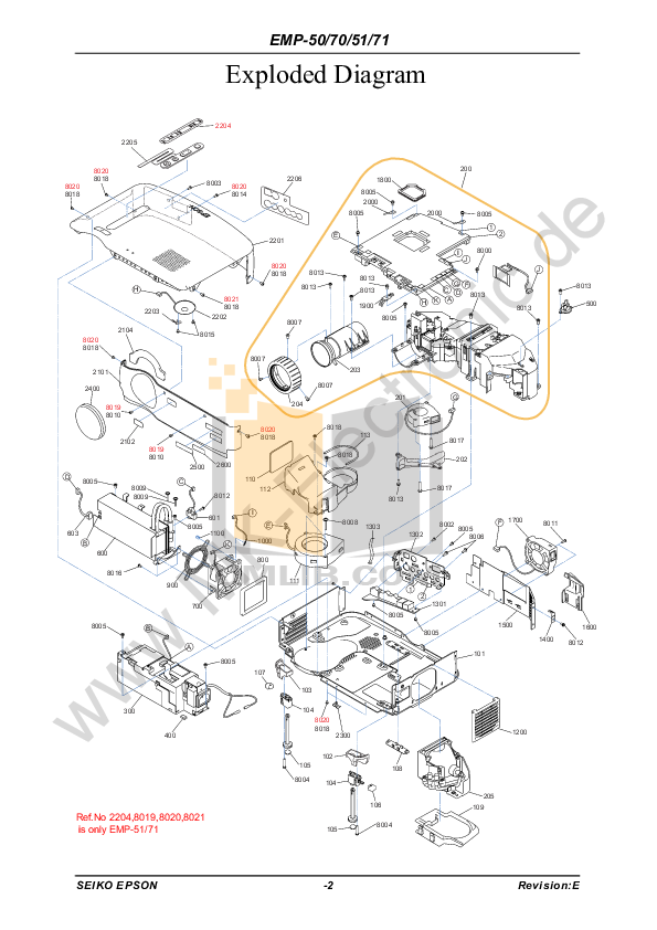 pdf for Epson Projector EMP-71 manual