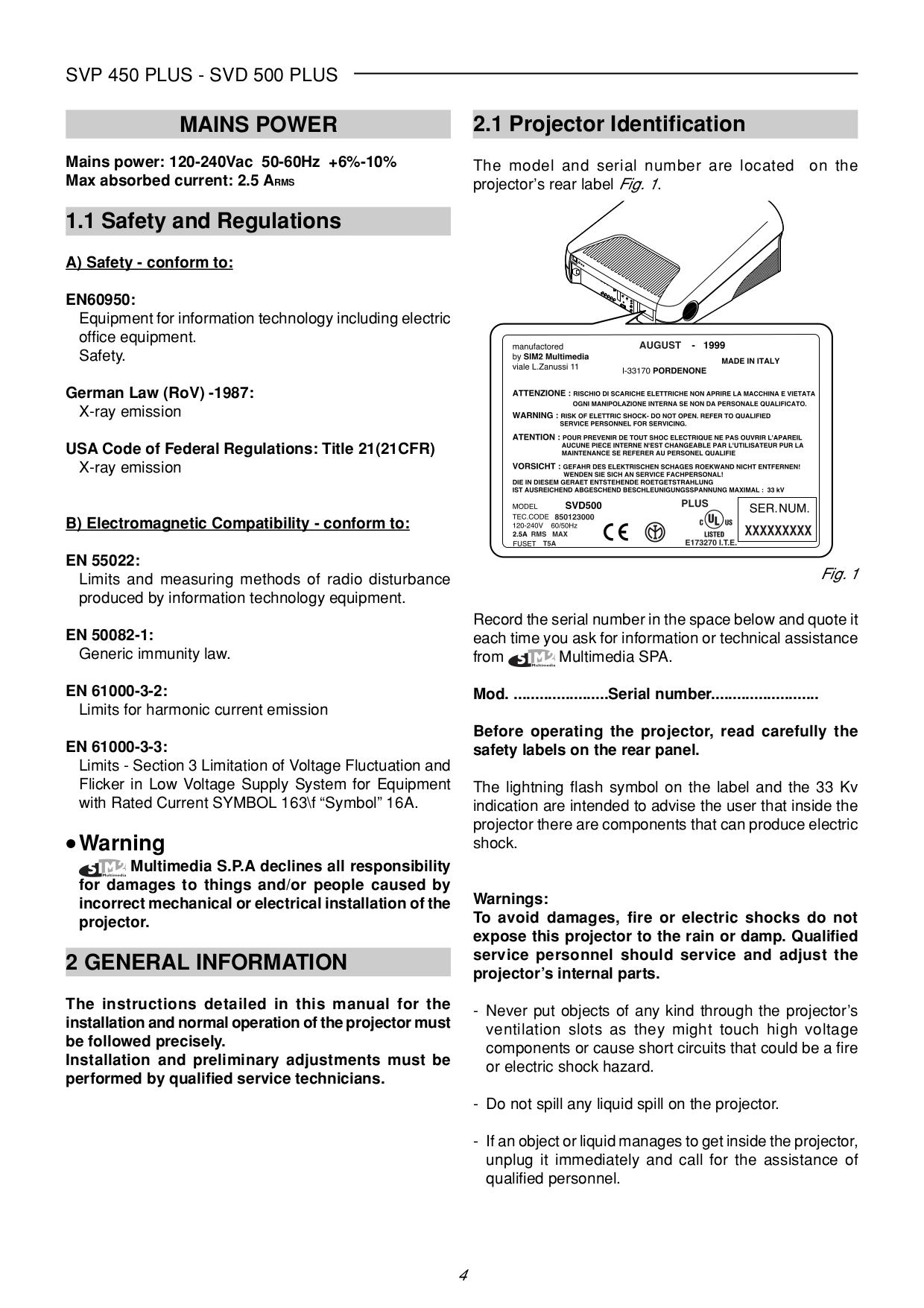 pdf manual for sim2 projector svp 450 plus rh umlib com SVP Scanner ACN SVP