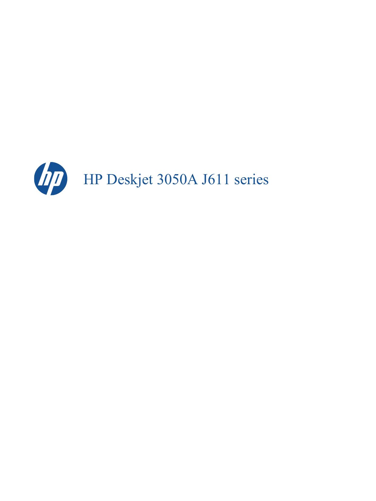 HP Multifunction Printer Deskjet 3050 pdf page preview ...