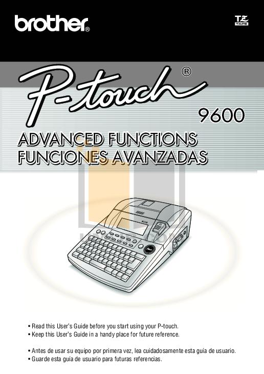 pdf for Brother Printer PT-1200 manual