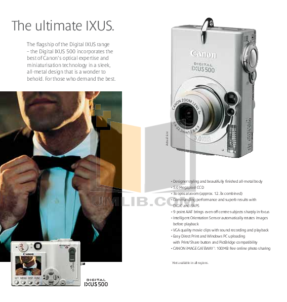 Canon Digital Camera IXUS i5 pdf page preview