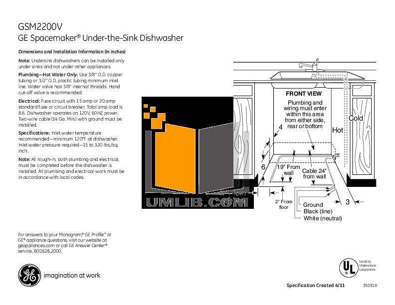 download free pdf for ge gsm2260vss dishwasher manual rh umlib com ge dishwasher owners manual ge profile dishwasher user manual