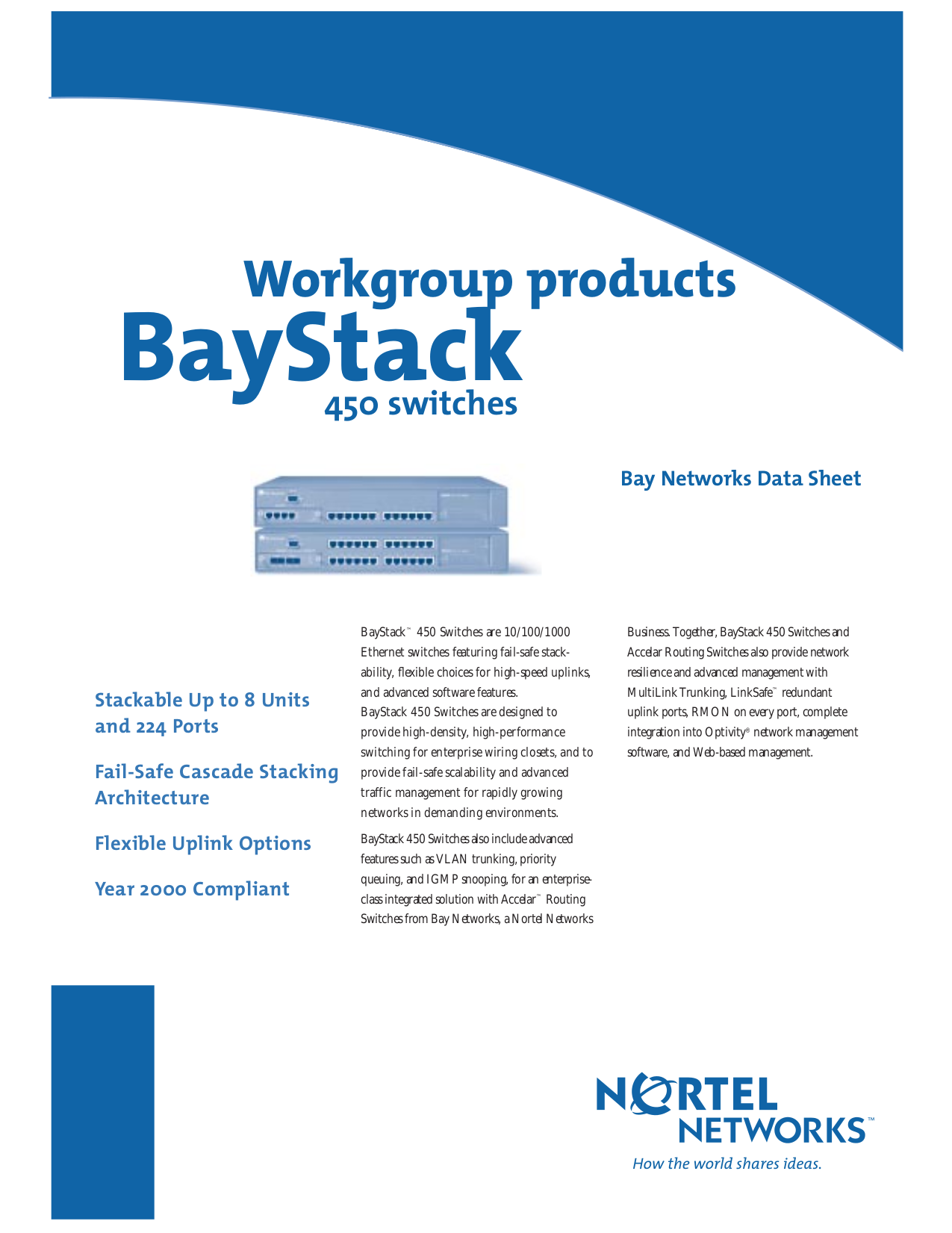pdf for Nortel Switch BayStack 450-24T manual
