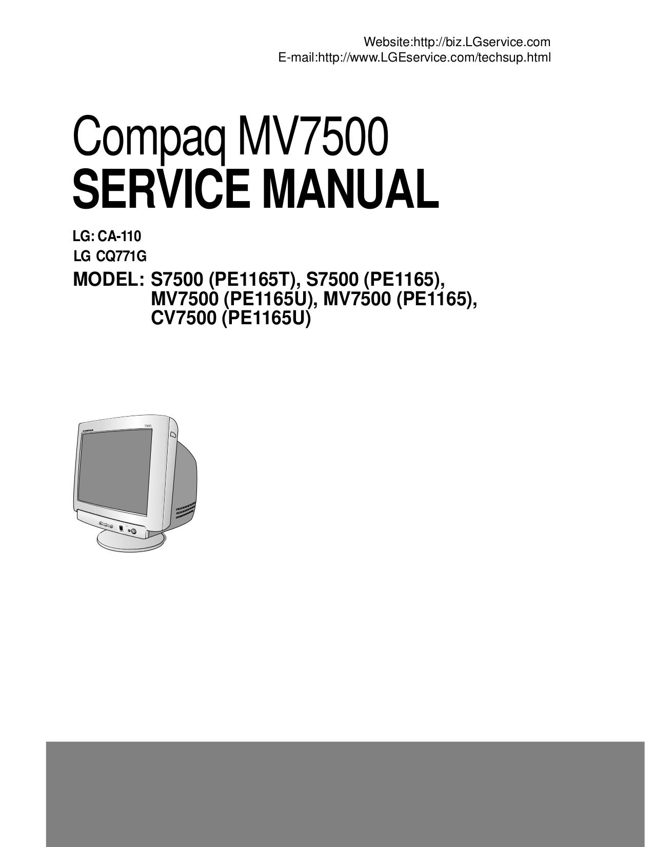 ... Array - download free pdf for hp compaq mv7500 monitor manual rh umlib  com