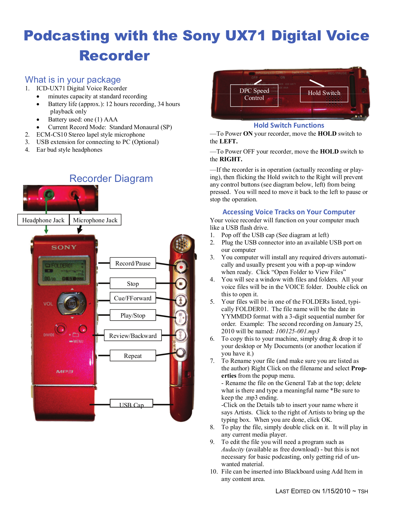 download free pdf for sony icd ux71 voice recorder manual rh umlib com sony ic recorder icd-ux71f software sony mp3 ic recorder icd-ux71 manual