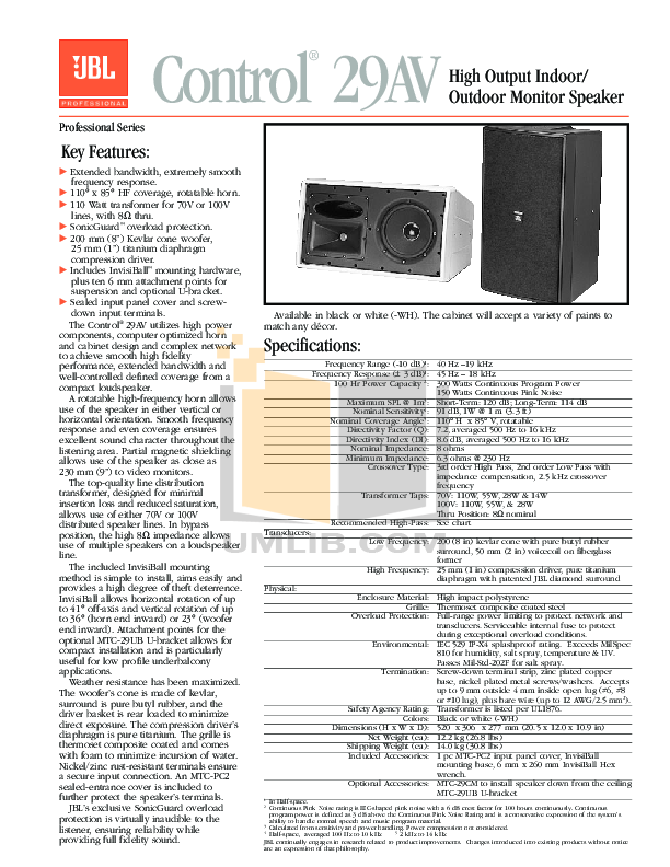 pdf for Crown Other OC-150 Output Controller manual