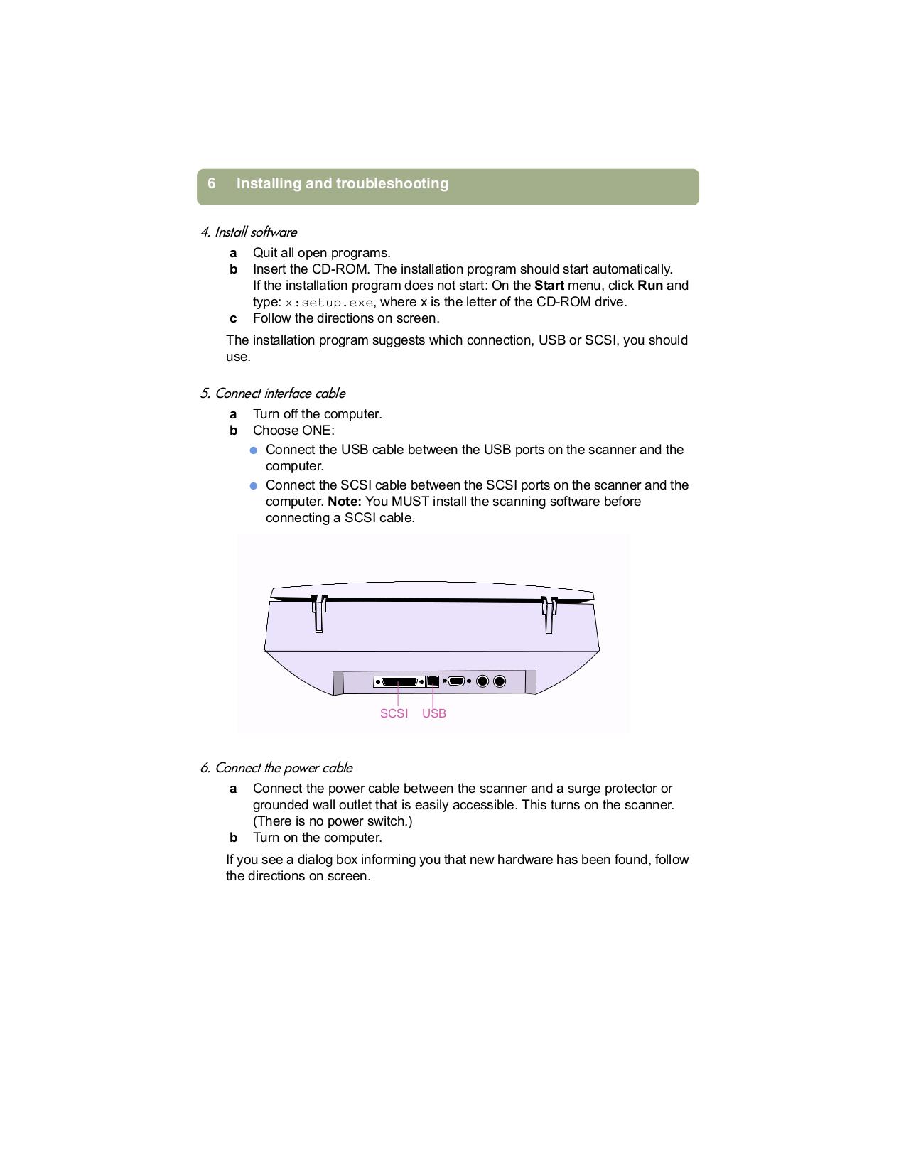 PDF manual for HP Scanner Scanjet 7400c