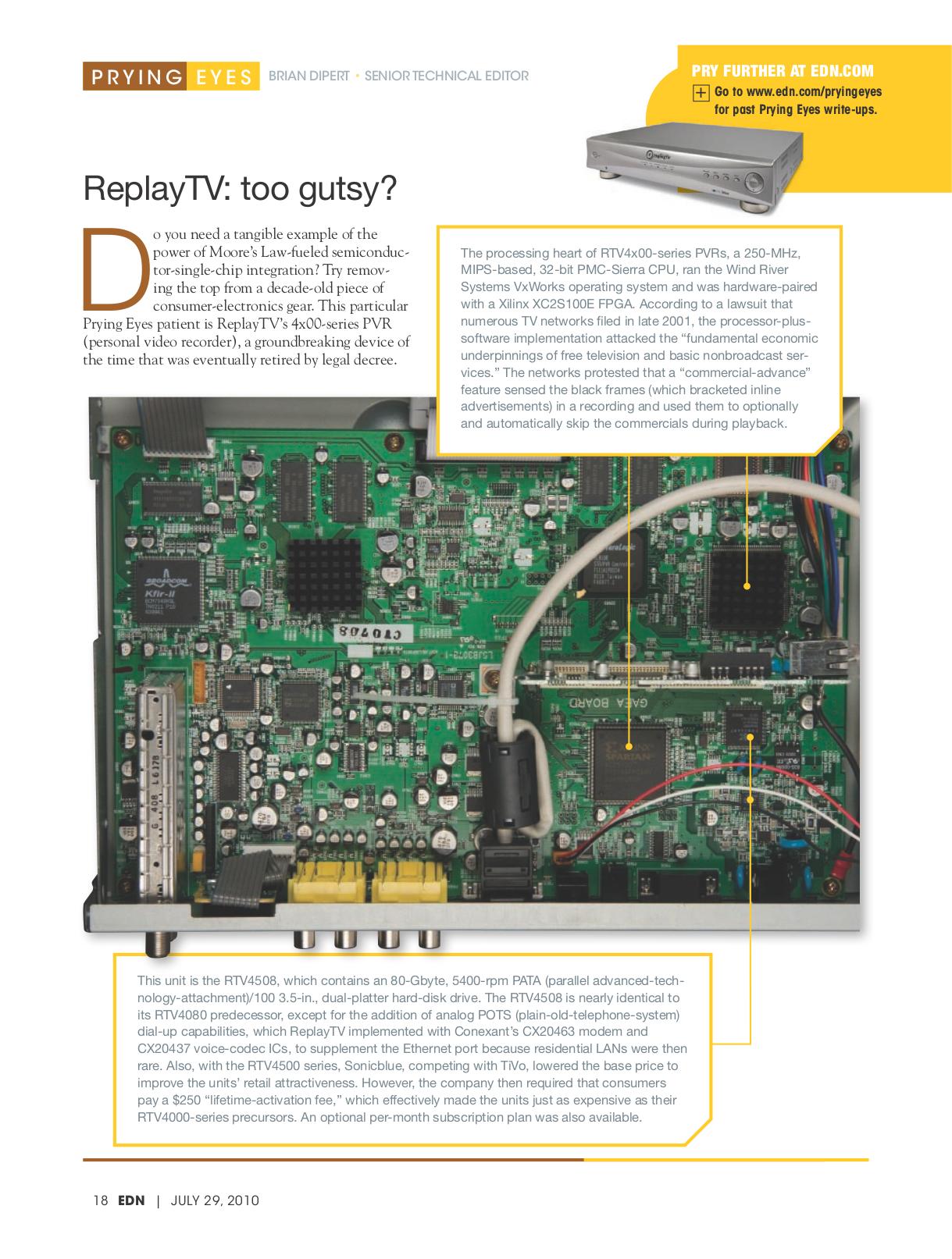 pdf for ReplayTV DVR RTV4508 manual