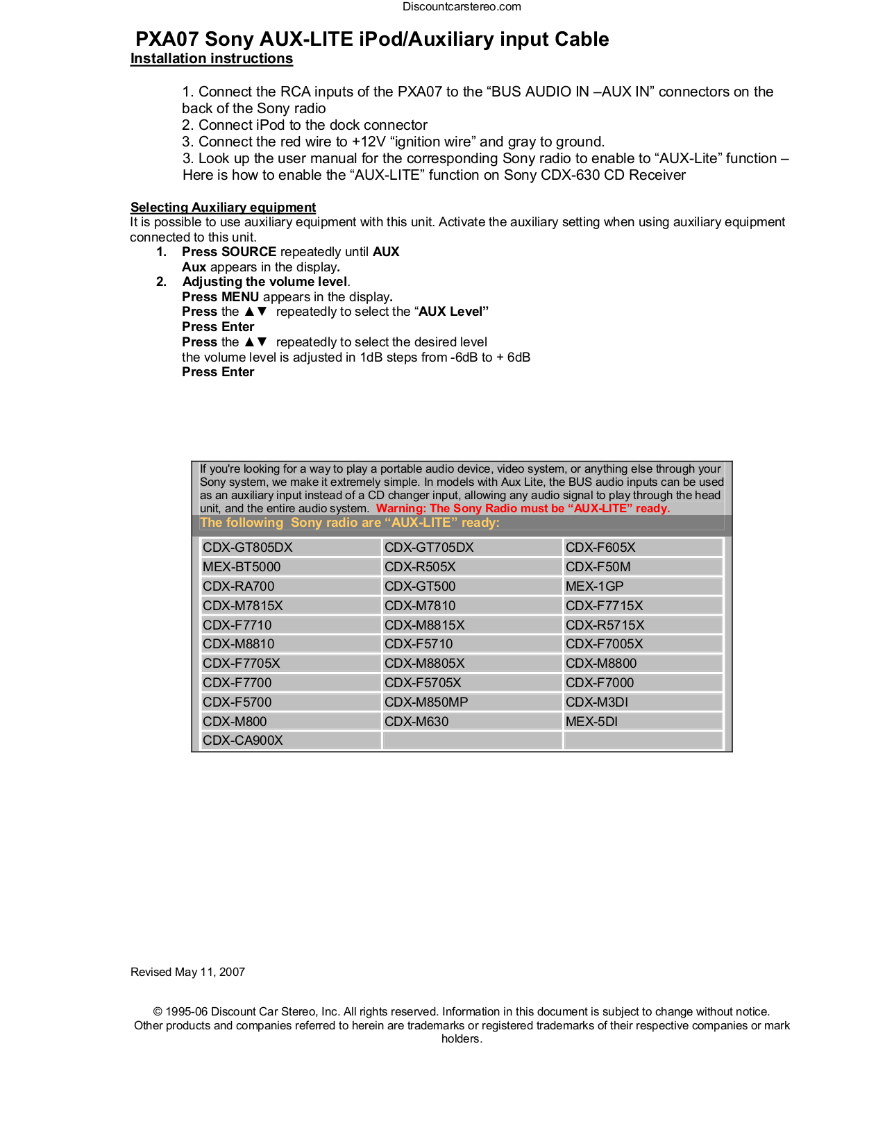 Pdf Manual For Sony Car Receiver Cdx F5700 Rh Umlib Com On Sony Cdx F5000  For Sony Car Receiver Cdx F5700 Pdf Page Preview At Sony Xplod Wiring  Harness ...