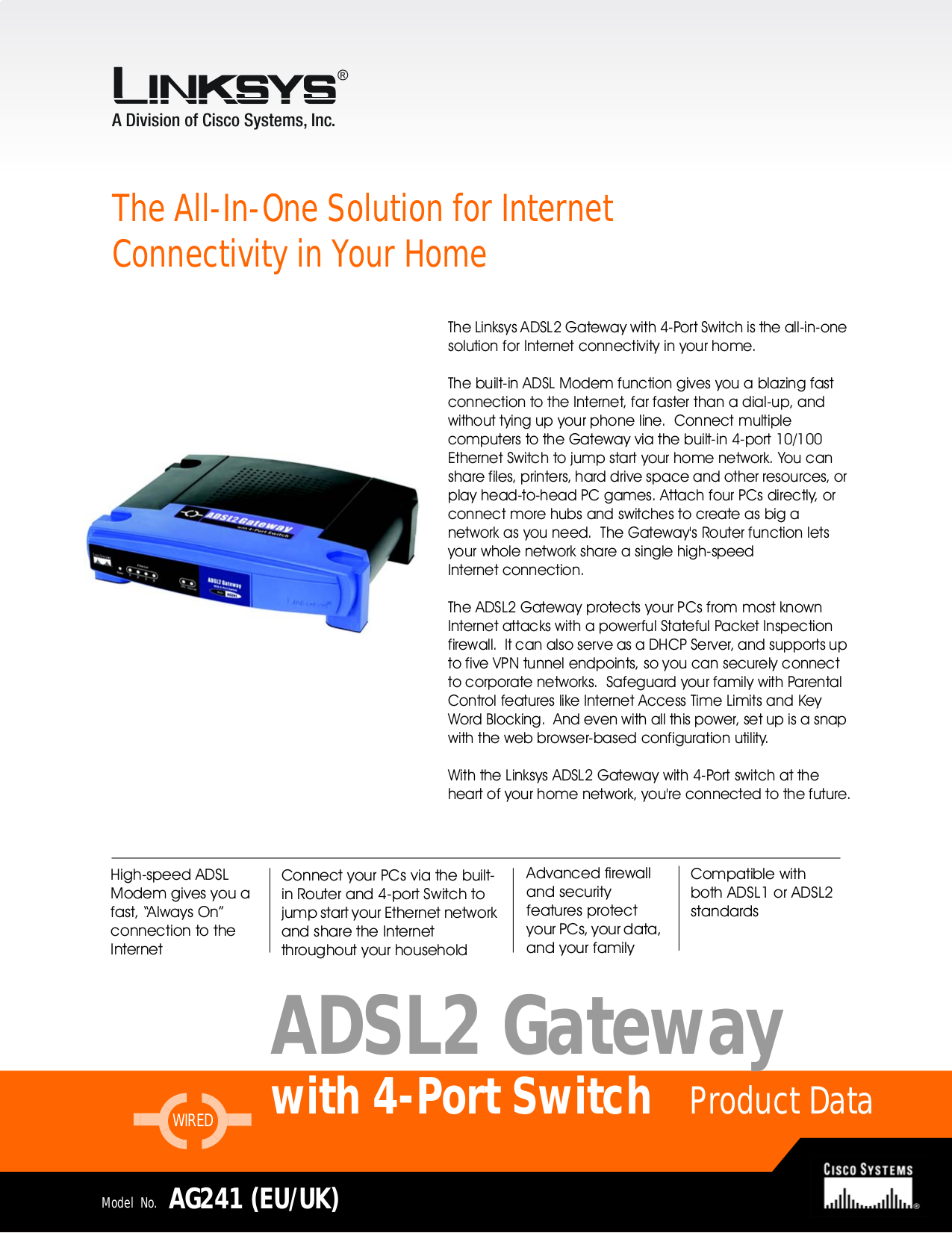 pdf for Linksys Switch AG241 manual