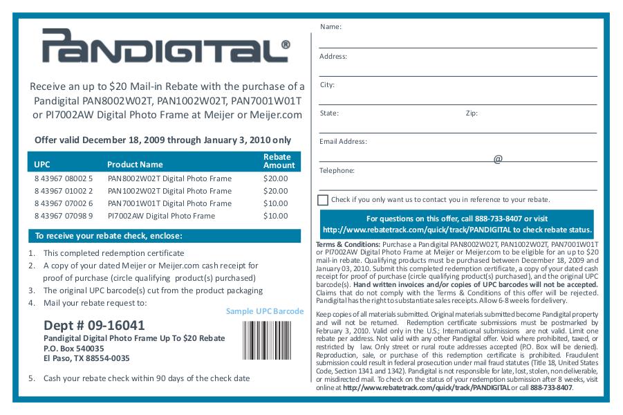 Download free pdf for Pandigital PAN8002W02T Digital Photo Frame manual