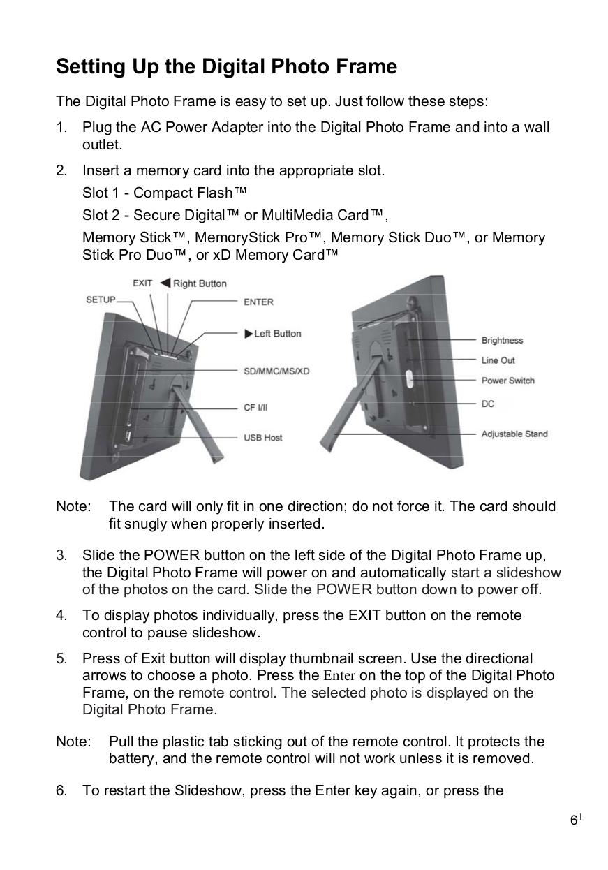 Pdf Manual For Pandigital Digital Photo Frame Pan8002w02t
