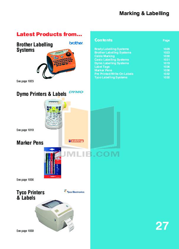 pdf for Brother Printer PT-580C manual