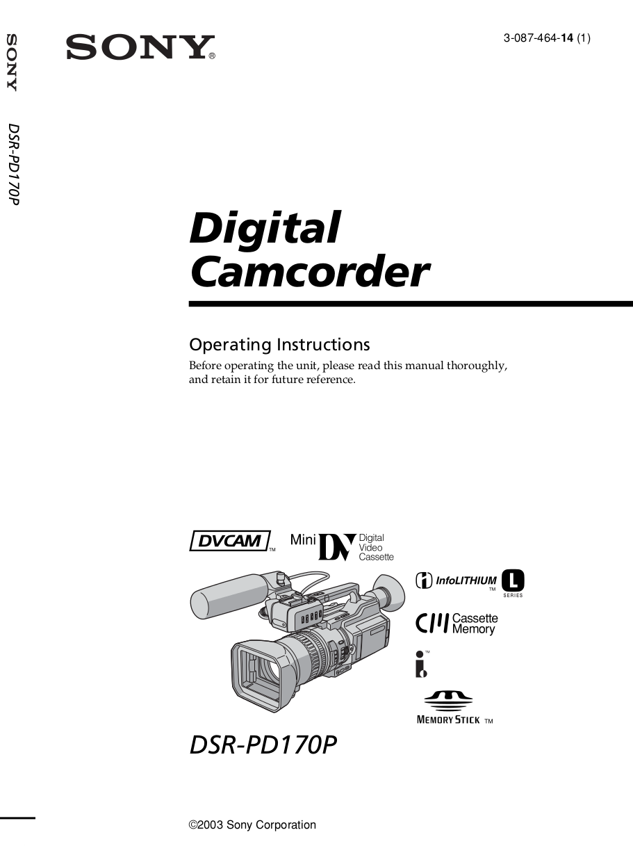 download free pdf for sony dsr 20 camcorders manual rh umlib com sony dsr-20p manual Sony DVCAM Recorder